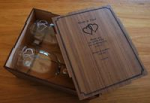 Rona wine glass pair in Box