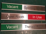 "Meeting Room Sliding Sign 40 mm ( 1.6"" ) x length chosen"
