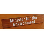 Desk Name Plate Timber Raised letters300 x 60 mm