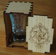 Shot Glass and Box